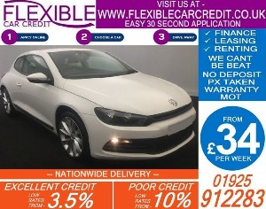 2010 VW SCIROCCO 2.0 TDI 140 DIESEL MANUAL COUPE 80K