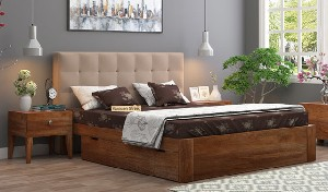 King Size Bed | With & Without Storage | Wooden Street
