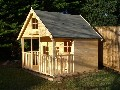 HUGE PLAYHOUSE 8FT X 8FT PINE SWISS COTTAGE BRAND NEW £595