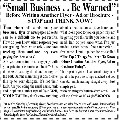 Small Business - Be Warned!