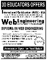 3D Educators Offers Web Engineering