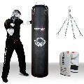 TurnerMAX Genuine Cowhide Leather Punching Bag For Boxing