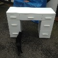White Glass Dressing Table . Second Hand