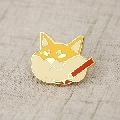 Fat Cat Enamel Lapel Pins