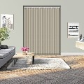 Controliss Oscuro Buff remote control electric vertical blind