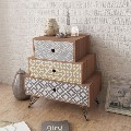 vidaXL Bedside Cabinet with 3 Drawers Brown - 242238 New