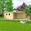 vidaXL Log Cabin Garden Shed Solid Wood 28 mm 6.3x3 m 43865 New