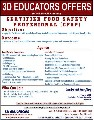 Certified food safety profesional course offer by 3d educators