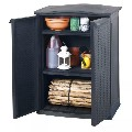 vidaXL Keter Mini Patio Shed Rattan Anthracite 407743 New
