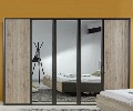 Wiemann Arizona Mirror Door Wardrobe | Furnituredirectuk.net