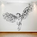 Buy Waterproof Vinyl Transfer Seated Angel Wall Stickers Online