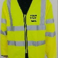 High Visibility Long Sleeves Zip Front Safety Vest