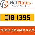 DIB 1395 NETPLATES PERSONALISED PRIVATE CHERISHED DVLA NUMBER PLA
