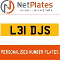 L31 DJS NETPLATES PERSONALISED PRIVATE CHERISHED DVLA NUMBER PLA