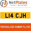 L14 CJH NETPLATES PERSONALISED PRIVATE CHERISHED DVLA NUMBER PLA