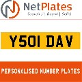 Y501 DAV NETPLATES PERSONALISED PRIVATE CHERISHED DVLA NUMBER PLA