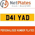 D41 YAD NETPLATES PERSONALISED PRIVATE CHERISHED DVLA NUMBER PLA