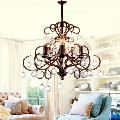 Brown Chandelier - Balance 5 Light Chandelier