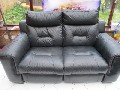 DFS Black Editor 2 x Seater Electric Power Recliner Sofa Ex Cond