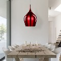 Red pendant light at Nowlighting