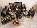 Marmoset Monkeys Collection of 10 Monkey Ornaments