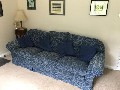 Multi York dark blue sofa suite large 3 & 2 sofa